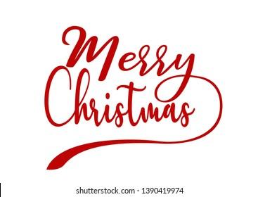 Merry Christmas creative lettering design