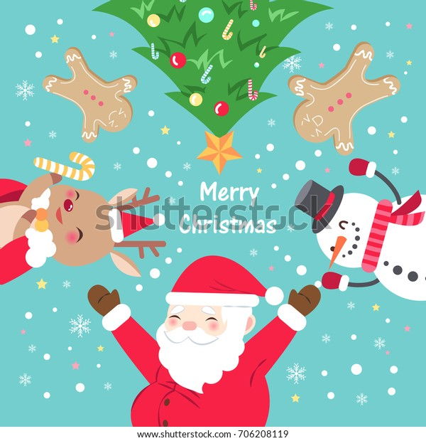 Christmas Day.Merry Christmas Day On Blue Background Stock Vector Royalty