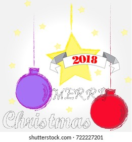 Merry Christmas .Christmas decoration . Winter . December . Christmas background .