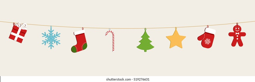 Christmas Socks Hanging Stock Vectors Images Vector Art