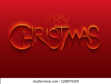 Merry Christmas. Elegant stylized inscription.