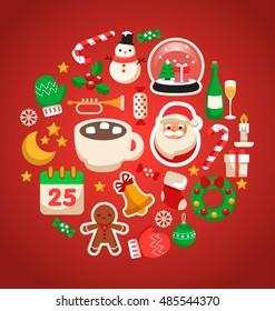 Merry Christmas Elements  : Vector Illustration