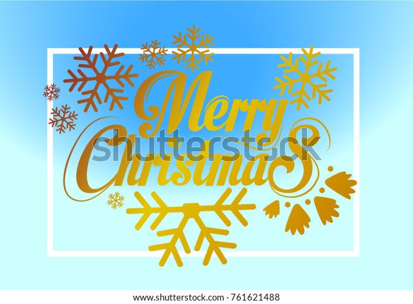 Merry Christmas Everyone, Vintage Background With Typography and Elements with snow flakes