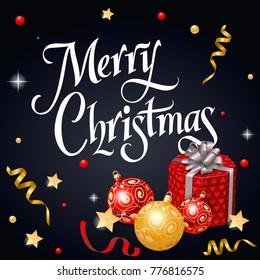 Merry Christmas Festive Lettering