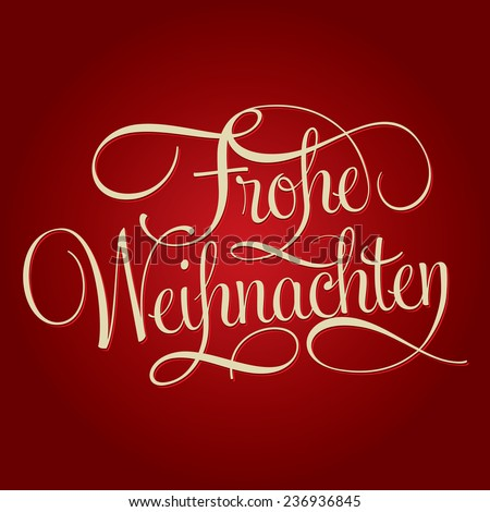 merry christmas frohe weihnachten hand lettering stock. Black Bedroom Furniture Sets. Home Design Ideas