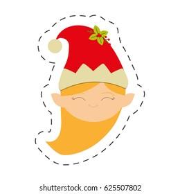 merry christmas girl elve image