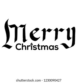 Merry Christmas gothic Calligraphy lettering