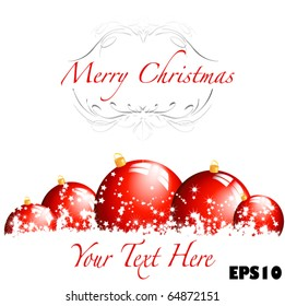 Merry Christmas- great for card, or banner ad, easy to edit