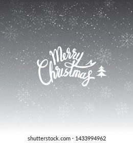 Merry Christmas. Christmas greeting card.