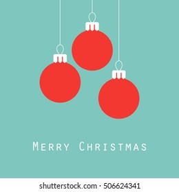 Merry Christmas greeting card, Christmas balls, vector illustration
