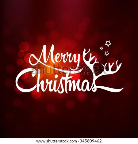 Merry Christmas Christmas Greeting Card Merry Stock Vector (Royalty ...