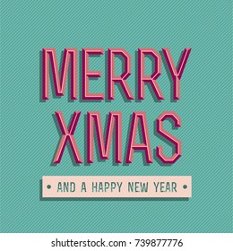 Merry Christmas Greeting Card - Merry Xmas And A Happy New Year