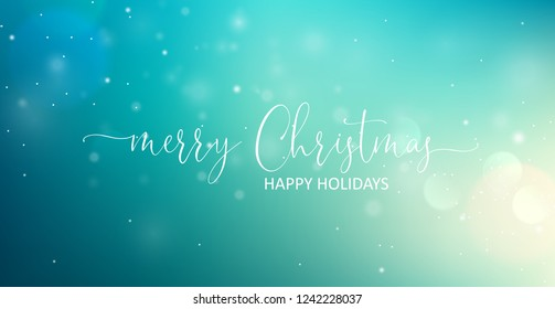 Merry Christmas Greeting Text. Vector illustration
