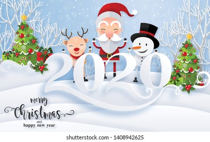 merry christmas 2020 images stock photos vectors shutterstock https www shutterstock com image vector merry christmas greetings happy new year 1408942625