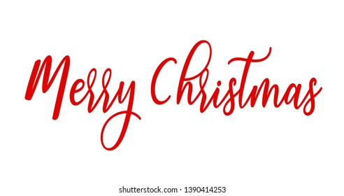 Merry Christmas Hand drawn creative calligraphy lettering