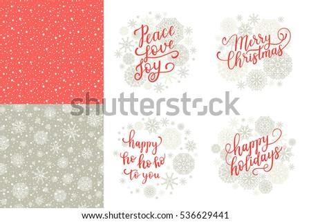 Merry Christmas Happy Holidays Happy Ho Stock Vector (Royalty Free ...