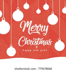 Merry Christmas and  Happy New card .