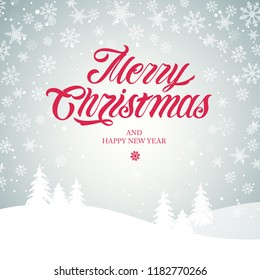 Merry Christmas and Happy New Year  typography vector design for greeting cards and poster.