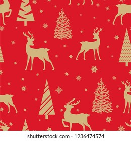 Merry Christmas and Happy New Year seamless pattern.Vector illustration.