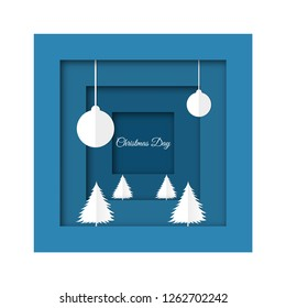 Merry Christmas and Happy New Year invitation card for background. holiday cards, posters, covers with text place.