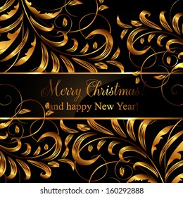 Merry Christmas and Happy New Year Card Seamless Wallpaper, Vector Background, Silk. White.