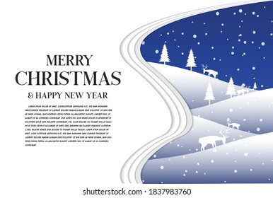 Merry christmas and happy new year card .  holiday decoration card design.