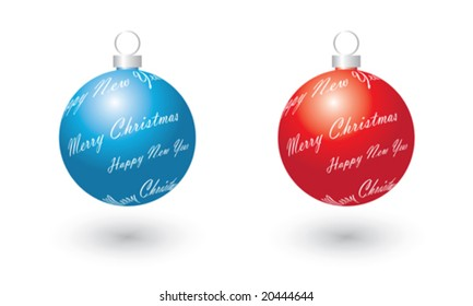 merry christmas, happy new year, vector illustration