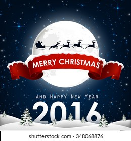 Merry Christmas and happy new year background.Vector