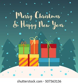 Merry Christmas and Happy New Year. Gift card