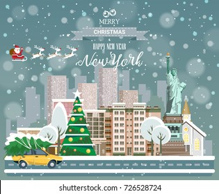 Merry Christmas and Happy New Year, New York