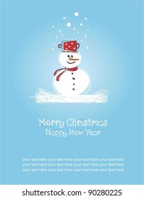 Merry Christmas and Happy New Year, greeting card
