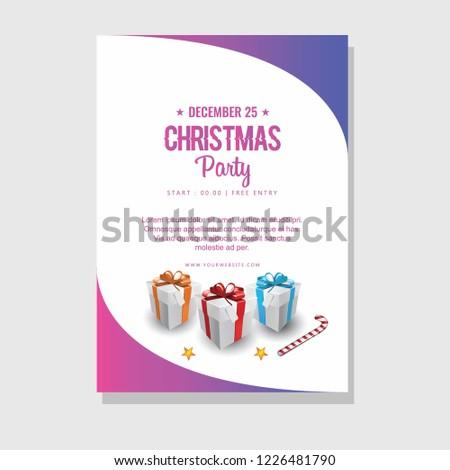 Merry Christmas Happy New Year Box Stock Vector Royalty