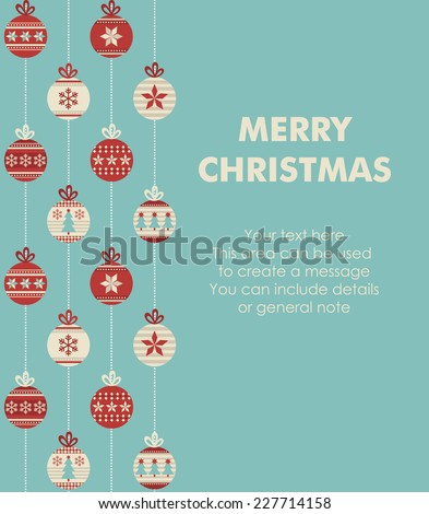 merry christmas and happy new year card design vector illustration