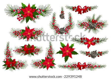 merry christmas and happy new year groupbordermodern flat decor elements for invitations