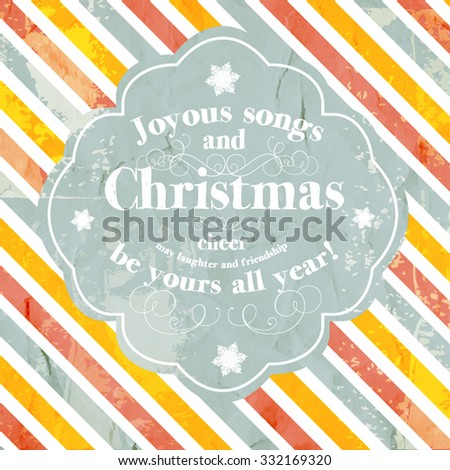 merry christmas and happy new year invitationvector illustration joyous songs and christmas