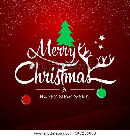 Merry Christmas Happy New Year Happy Stock Vector (Royalty Free ...
