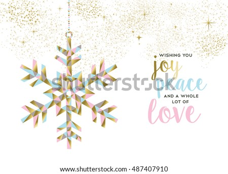 Merry Christmas Happy New Year Gold Stock Vector (Royalty Free ...