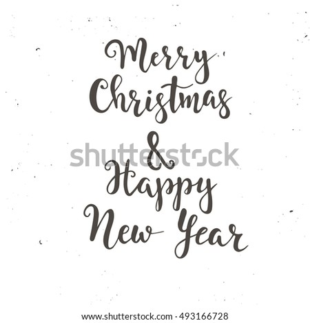 Merry Christmas Happy New Year Vintage Stock Vector (Royalty Free ...