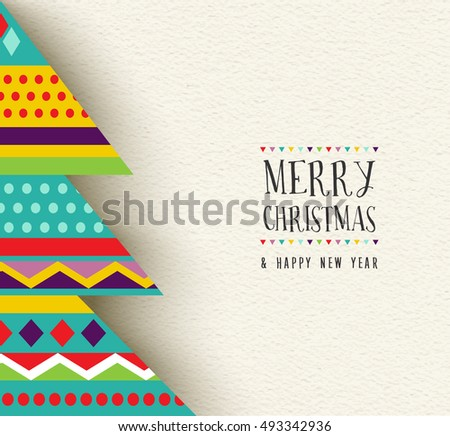 Merry Christmas Happy New Year Greeting Stock Vector (Royalty Free ...