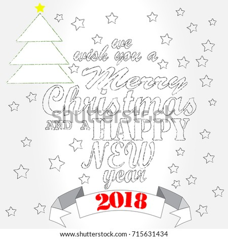 Merry Christmas Happy New Year Christmas Stock Vector (Royalty Free ...