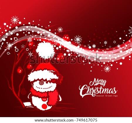 Merry Christmas Happy New Year Xmas Stock Vector (Royalty Free ...