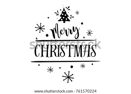 merry christmas happy new year lettering font text card typography inscription decoration poster type