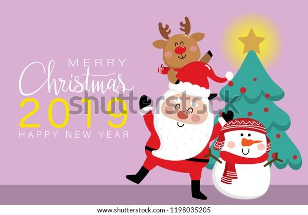 Image Vectorielle De Stock De Carte De Voeux Joyeux Noël Et