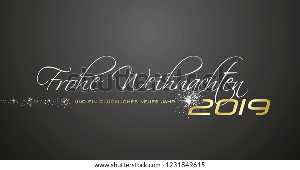 2019 Weihnachten.Merry Christmas Happy New Year 2019 Stock Vector Royalty Free