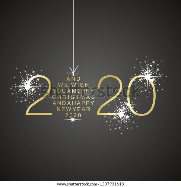 Merry Christmas 2020 Christian Merry Christmas Happy New Year 2020 Stock Vector (Royalty Free
