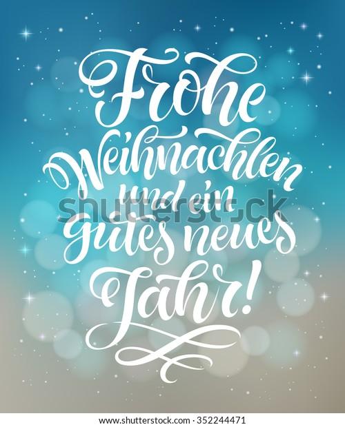 Frohe Weihnachten Und Happy New Year.Merry Christmas Happy New Year Text Stock Vektorgrafik Lizenzfrei