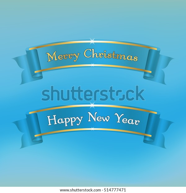 merry christmas happy new year banners stock vector royalty free 514777471 shutterstock
