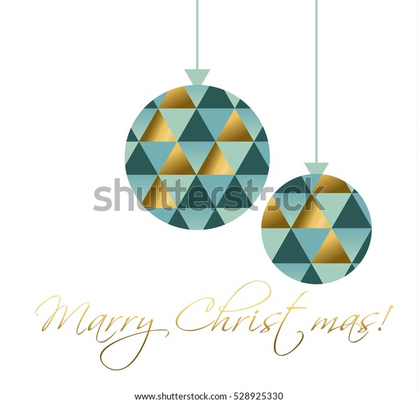 Merry Christmas and Happy New Year greeting cards, poster, holiday cover. Concept Xmas bulbs toy vector illustration. elegant abstract geometry pattern. elegant bolls mosaic icon