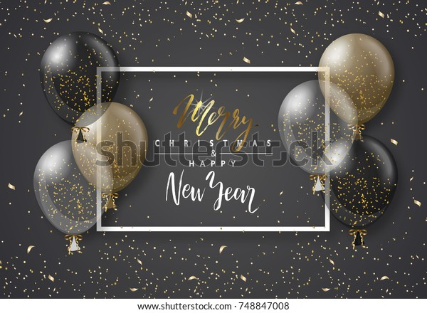 merry christmas happy new year background stock vector royalty free 748847008 shutterstock