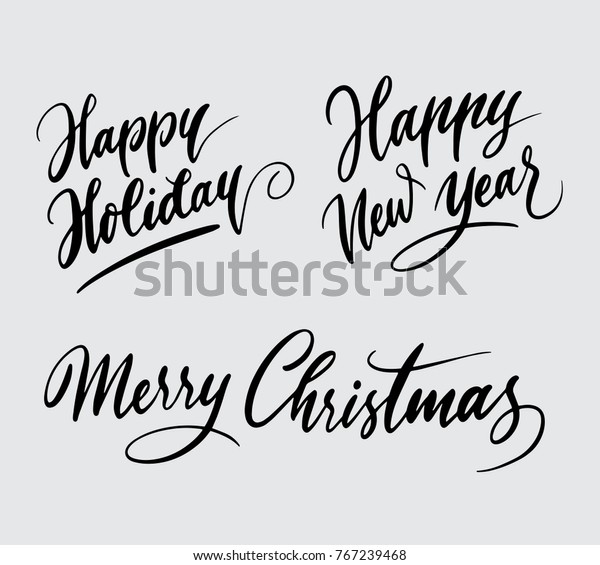 Download Merry Christmas Happy New Year Calligraphy